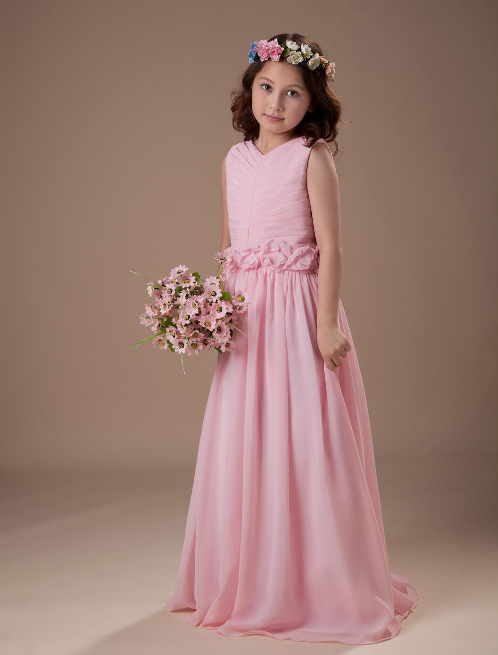 Girls flower dresses chiffon exclusive photo