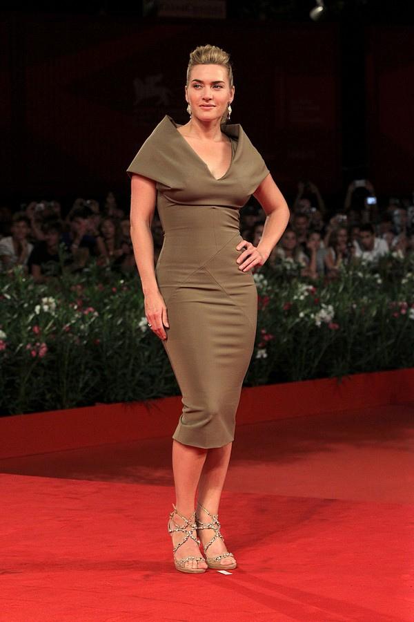 brown v neck beading elastic woven satin venice film festival dresses 123622. Black Bedroom Furniture Sets. Home Design Ideas