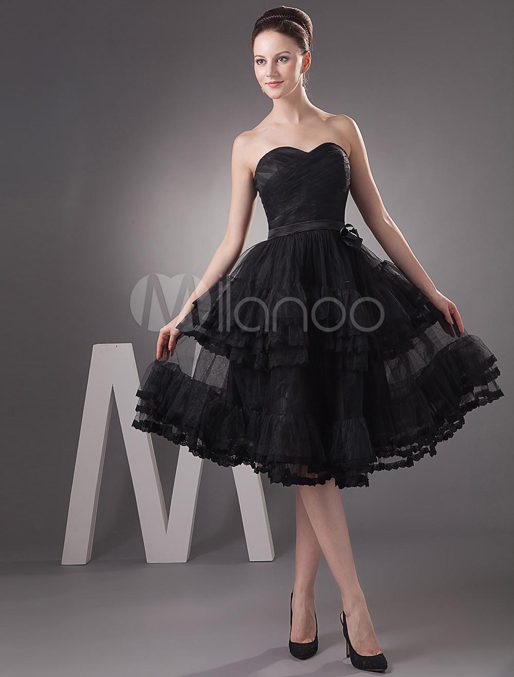 Knee Length Little Black Dress