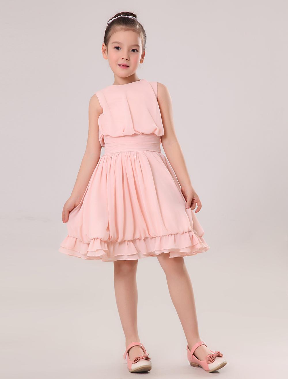 Pink Junior Bridesmaid Dresses 109