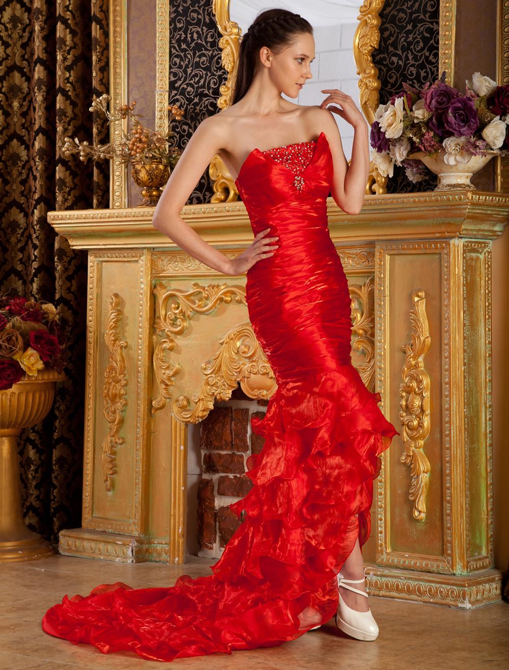 Vestidos de noche tipo flamenco
